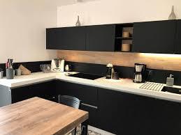 cuisine noir et blanc 56 beautiful modele cuisine noir et blanc cuisine jardin galerie