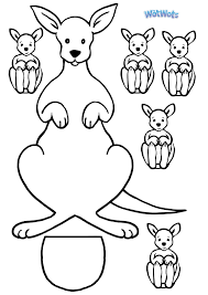 kangaroo template logo jpg 2480 3508 arts and crafts for kids
