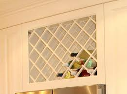 kitchen cabinets wine rack wine rack above the fridge under