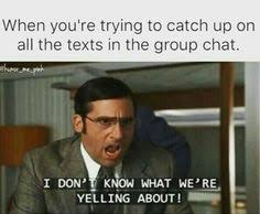 Group Text Meme - my reaction when i am part of a group text no god please no