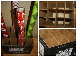 frugal wrapping paper storage system