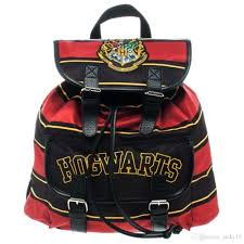 harry potter movies hogwarts knapsack backpack bag red