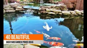 40 beautiful backyard garden ponds ideas youtube