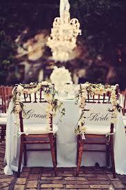 and groom chair swag elizabeth designs the wedding