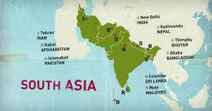 south asia countries map south asia home
