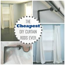 interior ideas awesome diy short curtain rods with hanging