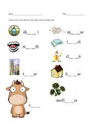 worksheet ou and ow sounds