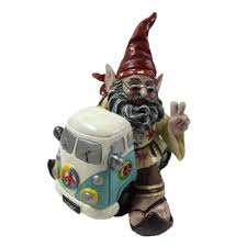 homestyles 11 in h 60 s jerry peace hippie gnome in