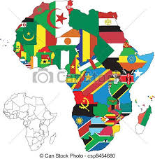 africa continent map africa continent flag map vector illustration for the vector