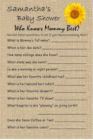 baby shower questions 14 personalized who knows best baby shower dr