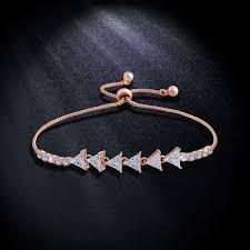 bracelet for luxury gold triangle bracelet for women dress cubic zircon