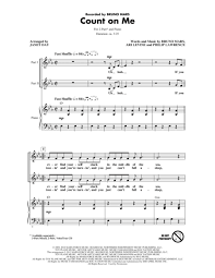 Count On Me Bruno Mars Piano Pdf Count On Me Sheet By Bruno Mars Sheet Plus