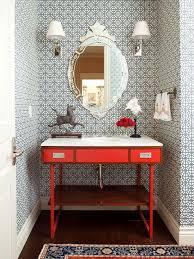 bathroom with wallpaper ideas powder bathrooms playmaxlgc com