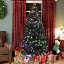 best choice products 7ft pre lit fiber optic artificial christmas