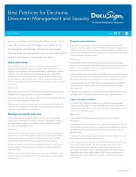 whitepaper best practices for electronic document management and sec u2026