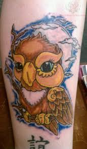 japanese owl tattoo