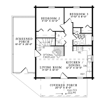 elfin cove log cabin home plan 073d 0023 house plans and more