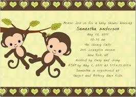baby shower monkey monkey baby shower invitations theruntime