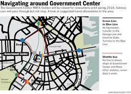 Map Green Line Boston by Gov U0027t Center Station Rebuild Archive Archboston Org