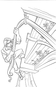 kids 7 tangled rapunzel coloring pages