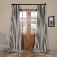 Raw Silk Drapery Panels by Buy Platinum Faux Silk Taffeta Curtains U0026 Drapes