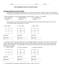 linked traits worksheet