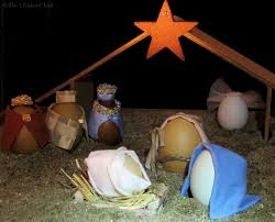 the chicken diy blown egg nativity scene the reason for