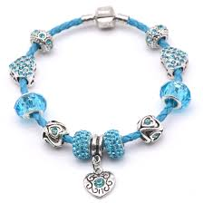 silver bead bracelet diy images Pink leather bracelet bangles with silver fittings fit women jpg