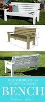 Free Park Bench Building Plans by Diy Sturdy Garden Bench Free Building Plans Farmhouse Design