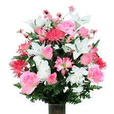 silk flower arrangements seasonal silk flower arrangement new cathedral cemetery