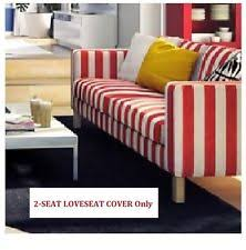 Red Loveseat Ikea Ikea Striped 100 Cotton Furniture Slipcovers Ebay
