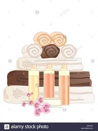 Hotel Bathroom Accessories by An Illustration Of A Selection Of Hotel Bathroom Accessories Stock