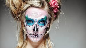 Halloween Skull Makeup Tutorial Santa Muerte Sugar Skull Halloween Tutorial By Ellimacs