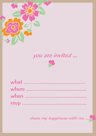 Designing Invitation Cards Birthday Invitation Card Design Template Free Neha Pinterest