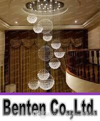 led lighting for banquet halls modern big hall chandelier lighting crystal ball hanging l hotel