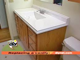 How To Install Vanity Cabinet Pretty Design How To Install Bathroom Vanity A Top And Sink Light