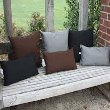 black sunbrella outdoor throw pillow dfohome