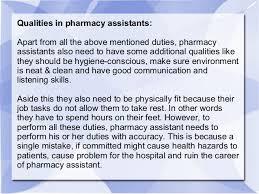 Pharmacy Assistant Duties Resume Pharmacist Assistant Job Description Pharmacy Job Pharmacy