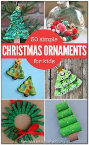 christmas decorations to make at home for kids fabulous ornaments