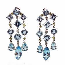 Citrine Chandelier Earrings Estate Blue Topaz And Lemon Citrine And Chandelier