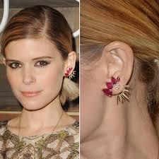 strange earrings trendy way to wear ear cuff jewelry gossip