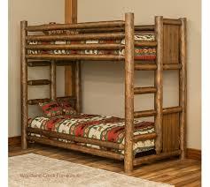 Cabin Bunk Beds Cedar Log Bunk Bed Barn Wood Bunk Bed Log Bunk Bed Custom Bed