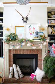 3 Stylish Mantel Displays Sainsbury Eclectic Christmas Mantel Holiday Happiness Pinterest