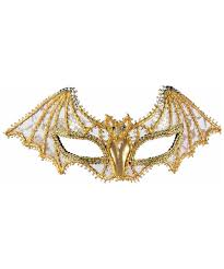 gold bat masquerade mask halloween costume mask