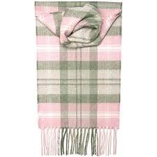 pink tartan baird pink tartan luxury scarf lochcarron of scotland