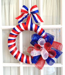 ribbon wreaths how to make a simple july 4th door wreath southern charm wreaths