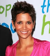 pictures of short messy haircut from halle berry