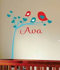 Bird Wall Decals For Nursery by Bird Wall Decal Nursery Wall Art Childrens Wall Decal