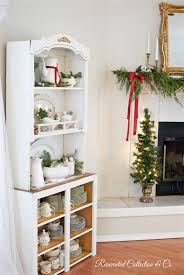 christmas decorating shelves french country home decor party