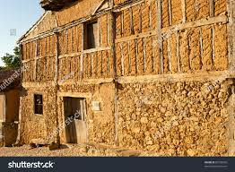 Adobe House Medieval Adobe House Facade Calatanazor Spain Stock Photo 85728928